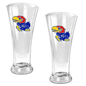 University of Kansas Jayhawks 2-pc. Pilsner Glass Set