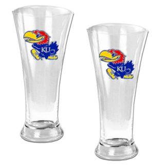 University of Kansas Jayhawks 2-pc. Pilsner Glass Set