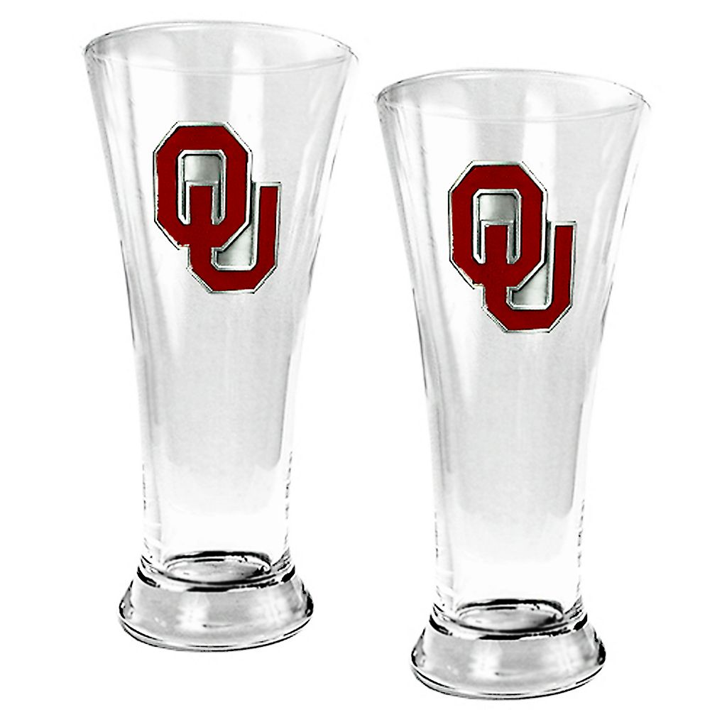 University of Oklahoma Sooners 2-pc. Pilsner Glass Set