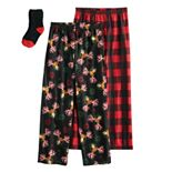 Boys 4-16 Up-Late 2-Pack Lounge Pants & Sock Set