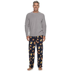 Men's Croft & Barrow Microfleece Long-Sleeve Top & Sleep Pants Set