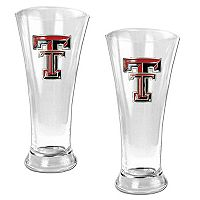 Texas Tech Red Raiders 2 pc Pilsner Glass Set