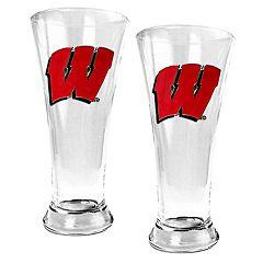 Wisconsin Badgers 2-pc. Pilsner Glass Set