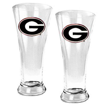 University of Georgia Bulldogs 2-pc. Pilsner Glass Set