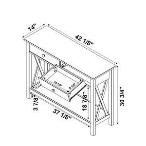 Linon Davis 2-Drawer Console Table