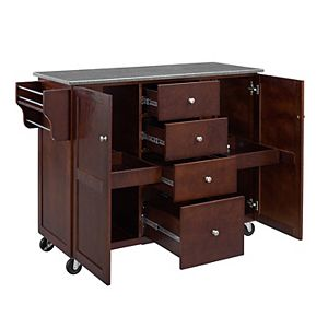 Linon Alanis Storage Kitchen Cart