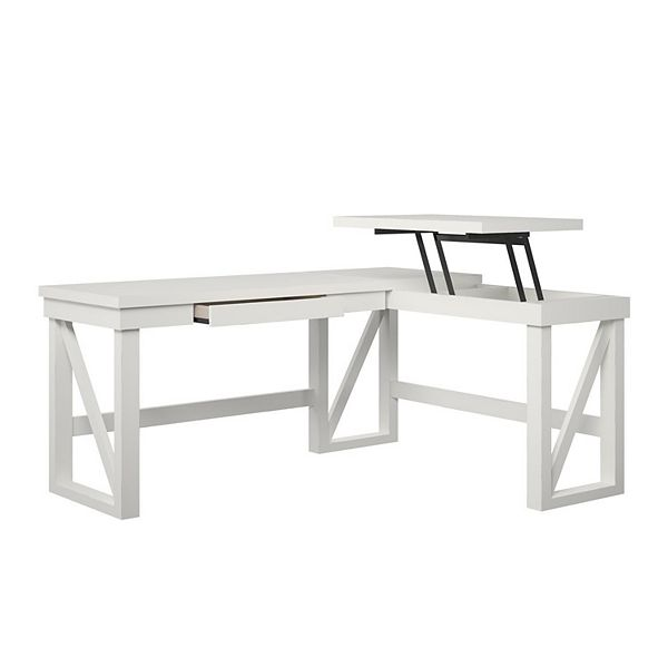 Ameriwood Home Crestwood Lift Top L Shape Desk