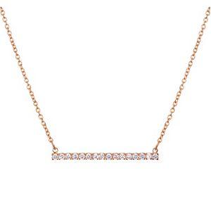 LC Lauren Conrad Cubic Zirconia Bar Necklace