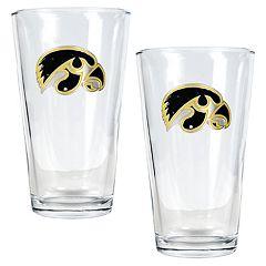 Iowa Hawkeyes 2 pc Pint Ale Glass Set
