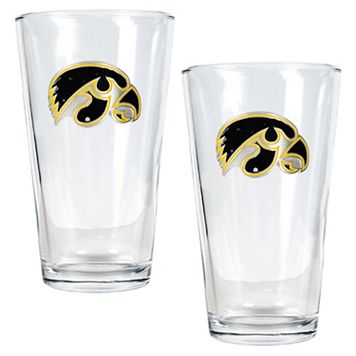 Iowa Hawkeyes 2-pc. Pint Ale Glass Set