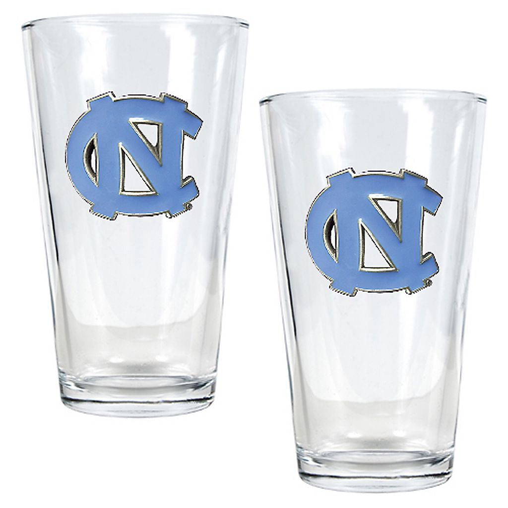 North Carolina Tar Heels 2-pc. Pint Ale Glass Set