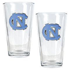 North Carolina Tar Heels 2 pc Pint Ale Glass Set