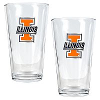 University of Illinois Fighting Illini 2 pc Pint Ale Glass Set