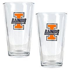 University of Illinois Fighting Illini 2-pc. Pint Ale Glass Set