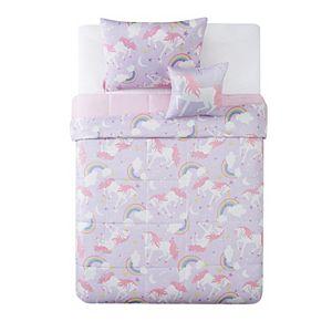 My World Rainbow Unicorn Comforter Set