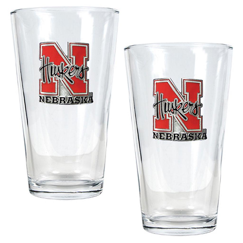 University of Nebraska Cornhuskers 2-pc. Pint Ale Glass Set