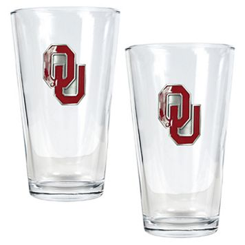 University of Oklahoma Sooners 2-pc. Pint Ale Glass Set