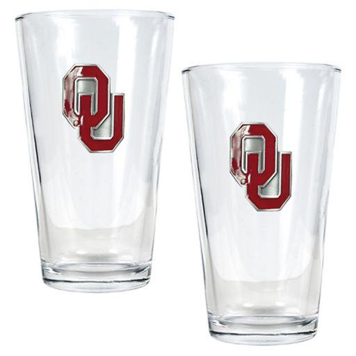 University of Oklahoma Sooners 2-pc. Pint Ale Glass Set