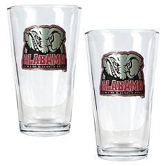 University of Alabama Crimson Tide 2 pc Pint Ale Glass Set