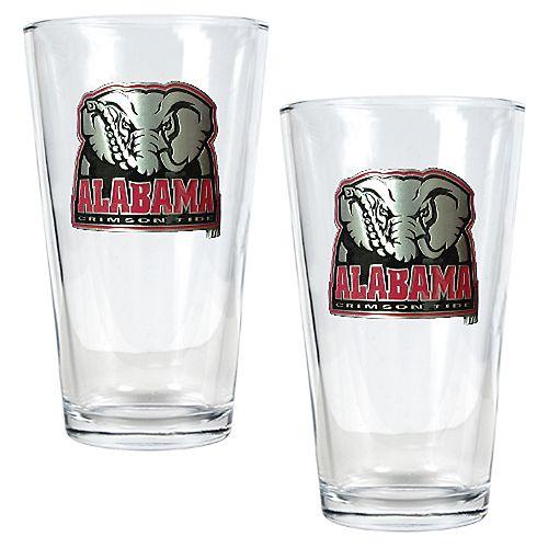 University of Alabama Crimson Tide 2-pc. Pint Ale Glass Set