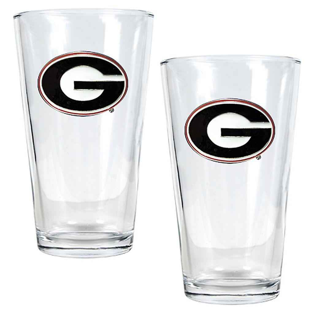 University of Georgia Bulldogs 2-pc. Pint Ale Glass Set