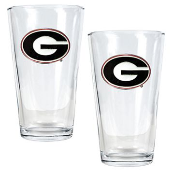 University of Georgia Bulldogs 2-pc. Pint Ale Glass Set