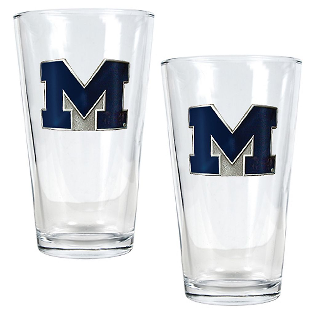 Michigan Wolverines 2-pc. Pint Ale Glass Set
