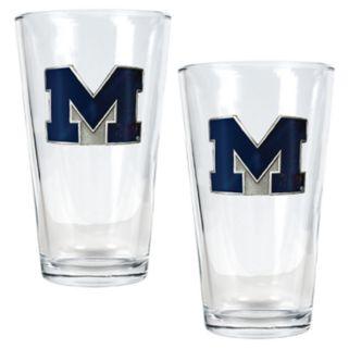 Michigan Wolverines 2-pc. Pint Ale Glass Set