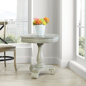 INSPIRED by Bassett Avalon Hand Painted Round Accent Table