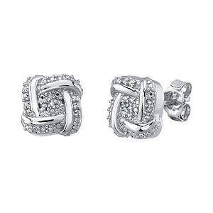 Diamond Allure Diamond Accent Square Knot Stud Earrings