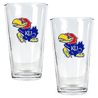 Kansas Jayhawks 2-pc. Pint Ale Glass Set