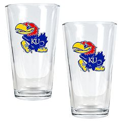 Kansas Jayhawks 2 pc Pint Ale Glass Set