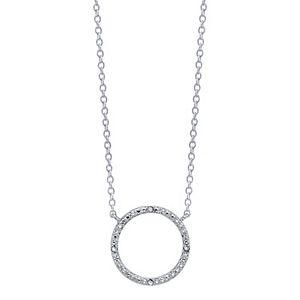 Diamond Allure Diamond Accent Open Circle Necklace