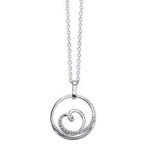 Diamond Allure Diamond Accent Circle Heart Pendant Necklace