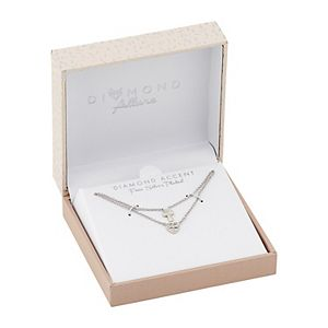 Diamond Allure Diamond Accent Cross & Heart Double Strand Necklace