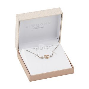 Diamond Allure Two-Tone Diamond Accent Arrow & Heart Necklace