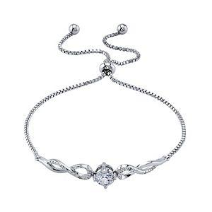 Diamond Allure Diamond Accent Twist Bolo Bracelet