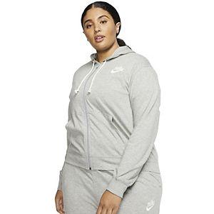 Plus Size Nike Vintage Zip-Front Hoodie