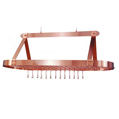 Old Dutch Copper Hanging Oval Pot Rack
