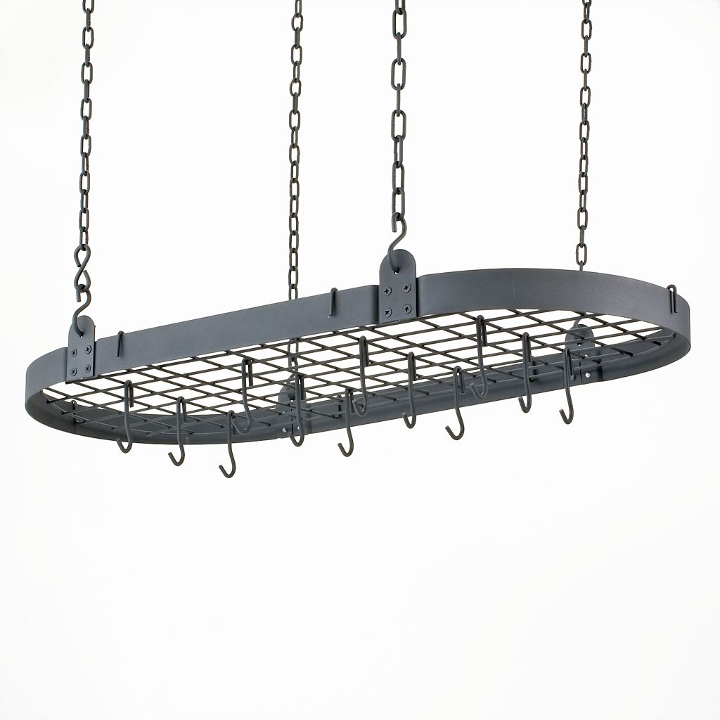 Old Dutch Graphite Hanging Oval Pot Rack