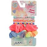 Girls 6-12 Elli by Capelli Tye Dye Scrunchie & Friendship Bracelet Set