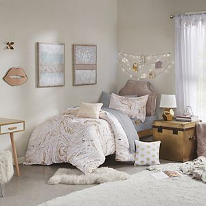 Intelligent Design Natalia Metallic Printed Comforter Set