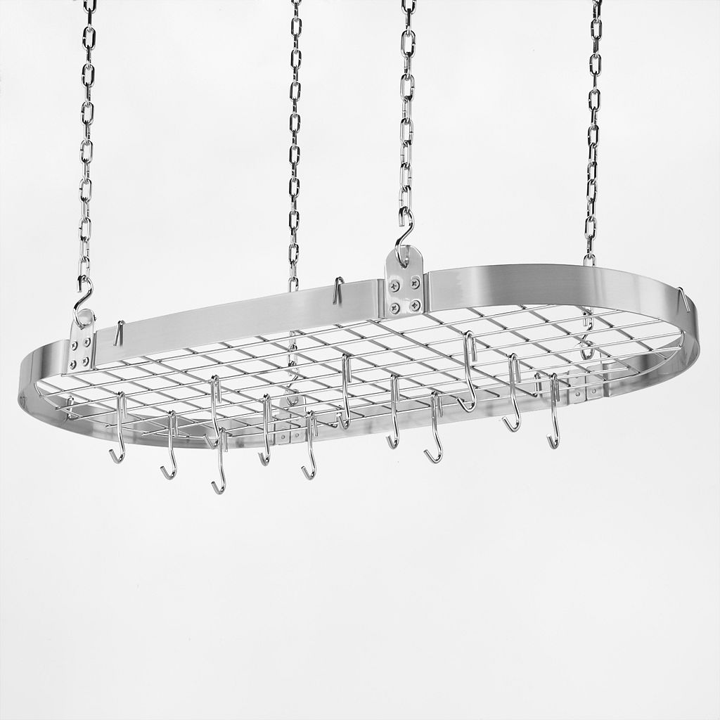 Old Dutch Nickel Hanging Oval Pot Rack