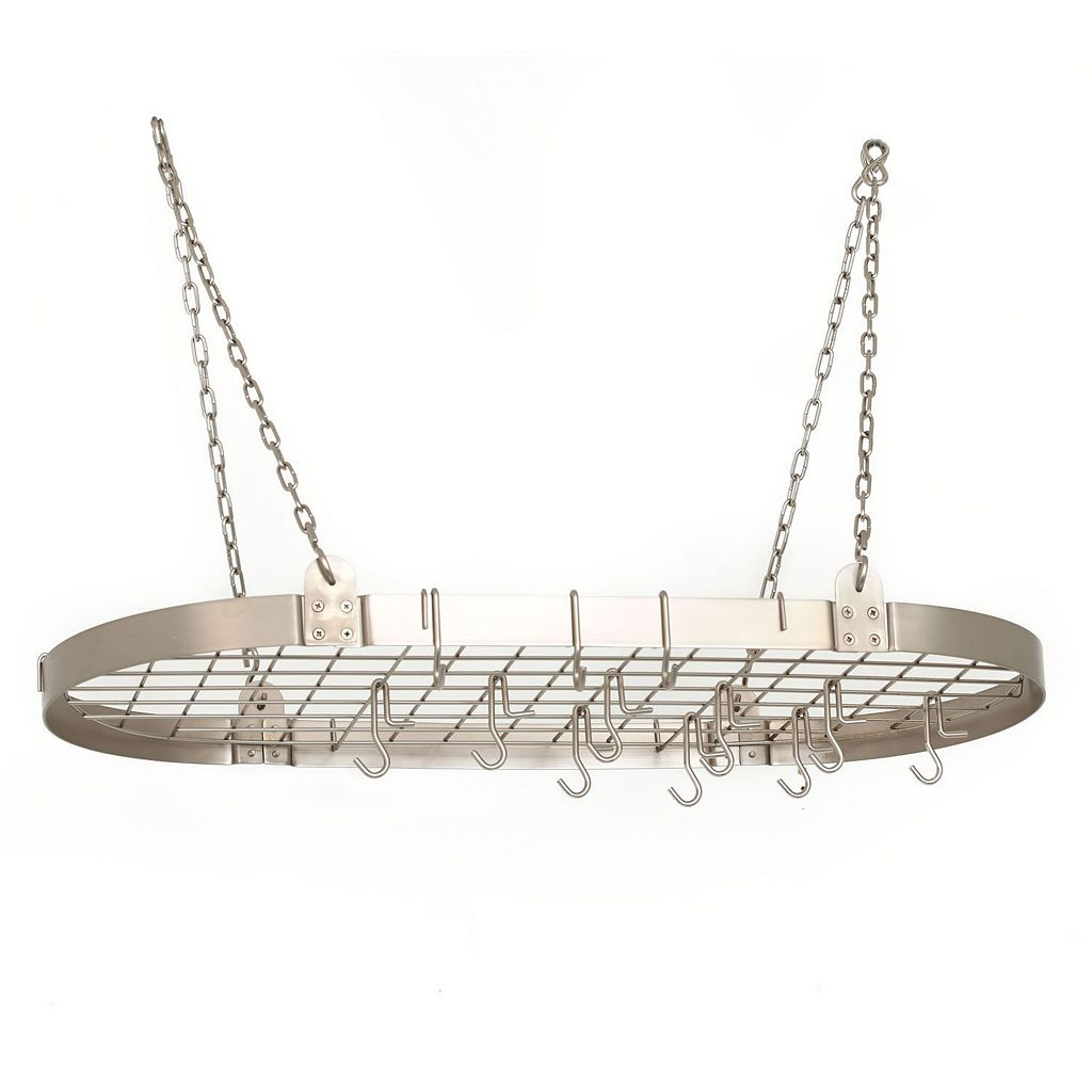 Old Dutch Nickel Hanging Oval Pot Rack