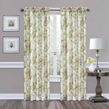 Traditions by Waverly 1-Panel Forever Yours Floral Window Curtain