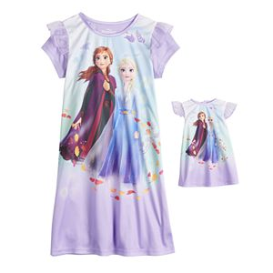 Girls 4-8 Disney's Frozen 2 Nightgown & Doll Nightgown