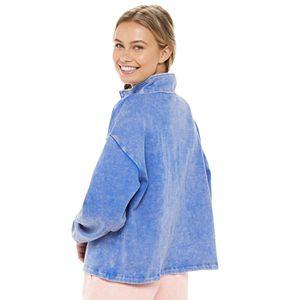 Juniors' SO® 1/4-Zip Crop Fleece Sweatshirt
