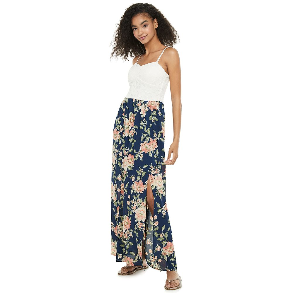 Juniors' Lily Rose Molded Cup Maxi Dress
