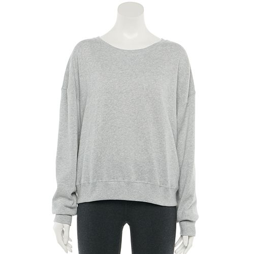 Juniors' Plus Size SO® Drop Shoulder Crewneck Sweatshirt
