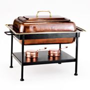 Old Dutch 8-qt. Rectangular Antiqued Copper Chafing Dish